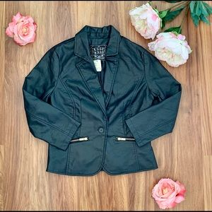Last Kiss Faux Leather Jacket